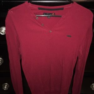 Guess dark red long sleeve size small